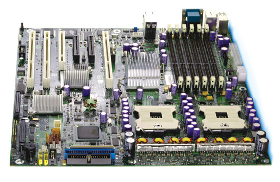 Intel Brandon SE7520BD2V: iE7520, 2xS604, video, RAID SATA, u320, 2xGLAN, oem