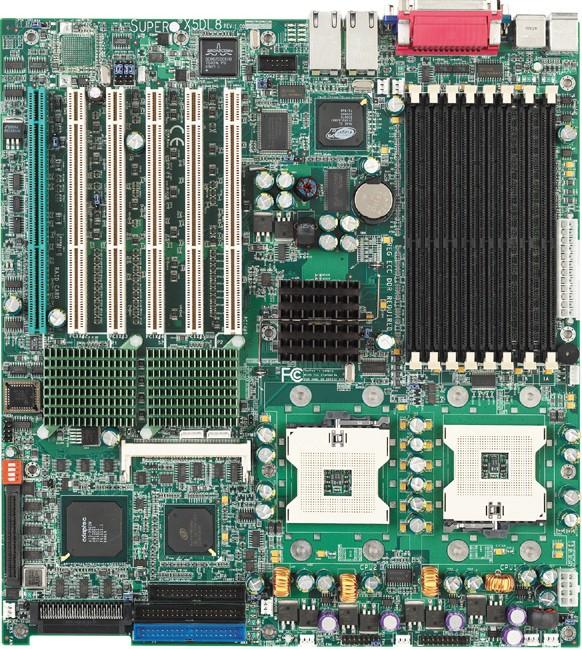 SuperMicro X5DL8-GG: SrvW GC-SL, 2xS604, D-sub, u320, 2xGLAN