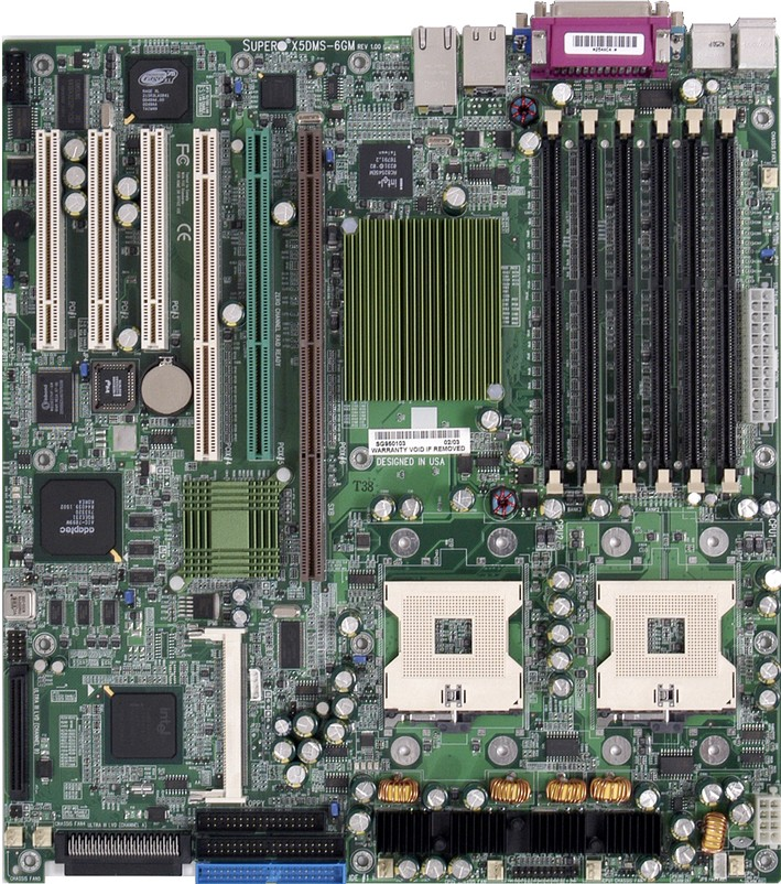 SuperMicro X5DMS-6GM: iE7501, 2xS604, D-sub, u160, LAN+GLAN