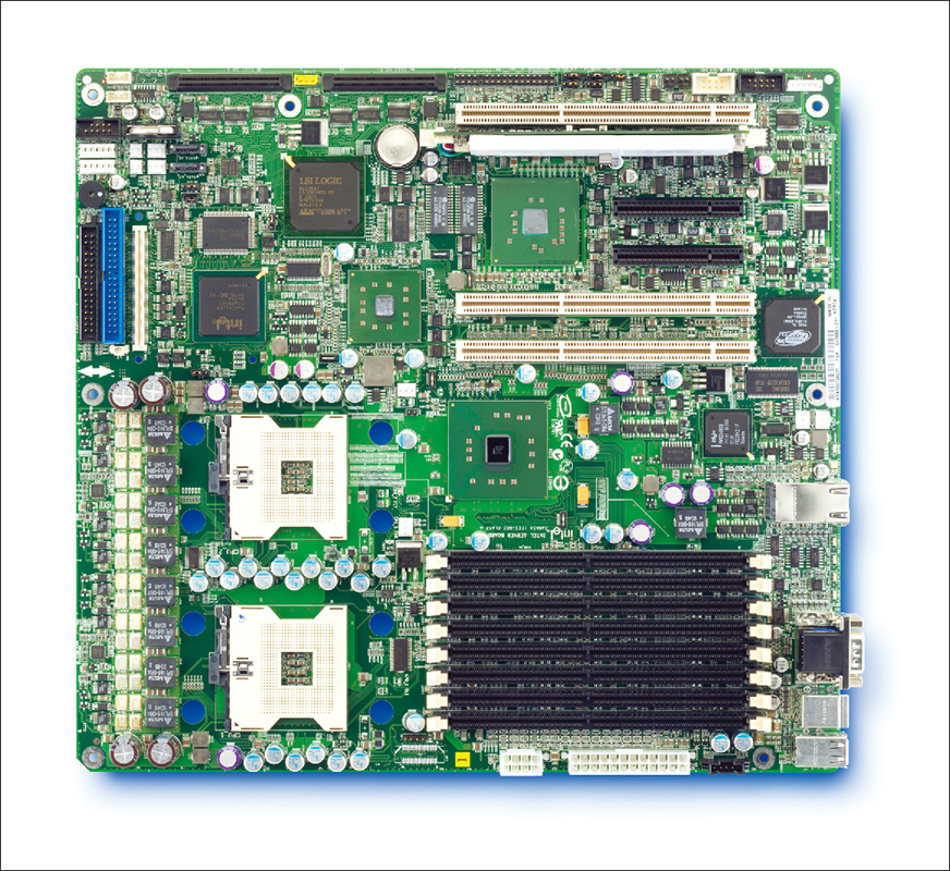 Intel Alief SE7520AF2: iE7520, 2xS604, DDR2, video, RAID SATA, u320, 2xGLAN, oem, w/o I/O shield