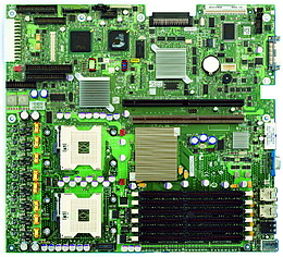 Intel Jarell SE7520JR2ATAD1: iE7520, 2xS604, video, RAID SATA, 2xGLAN, oem, w/o I/O shield