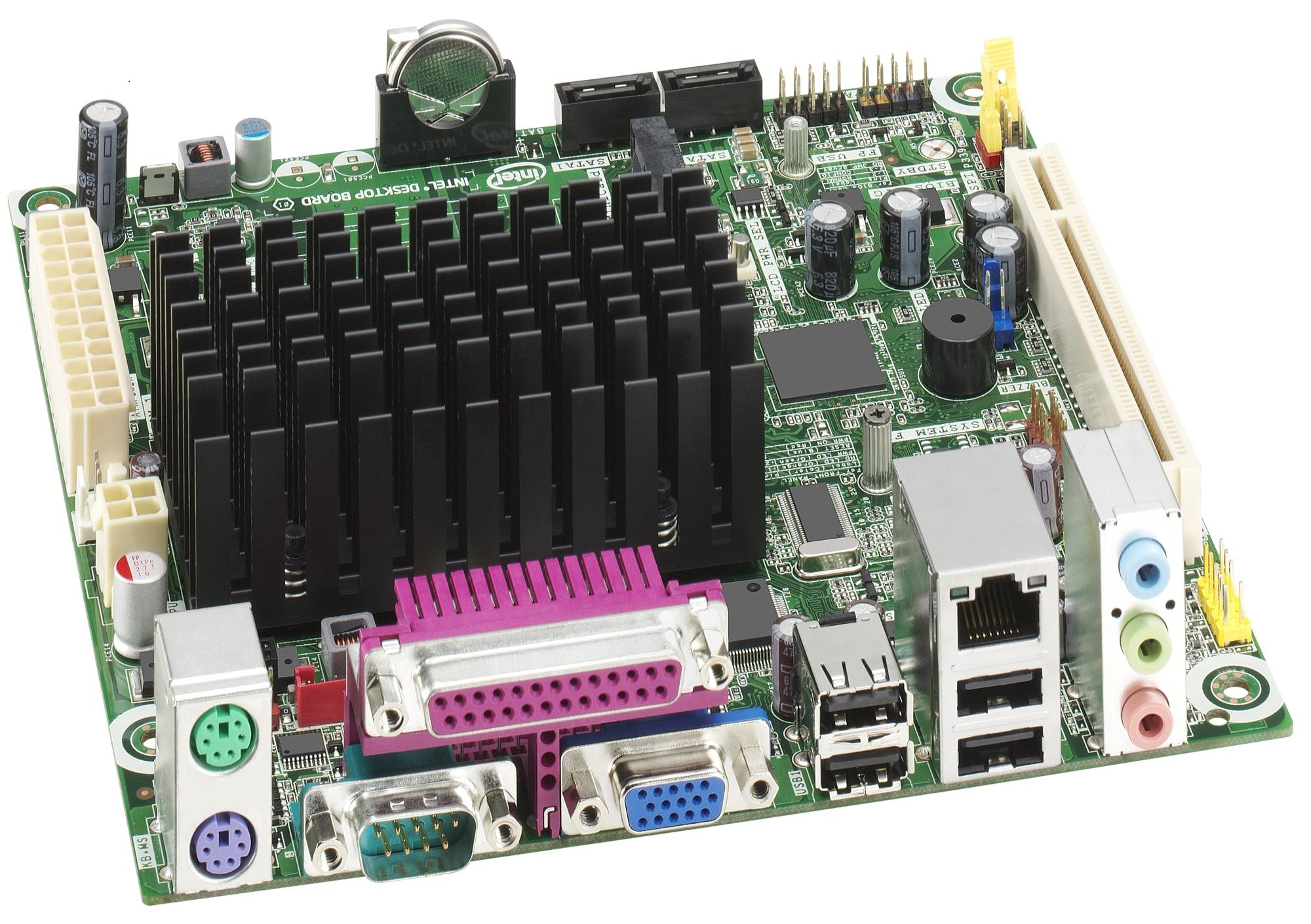 Intel MountWashington D525MWV: iNM10, Atom D525 (1,80), D-sub/LVDS, GLAN, miniITX